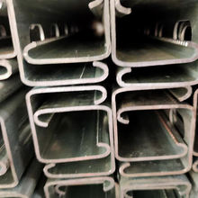U Slotted Perforated Galvanized Shaped Steel Profile Strut Channel