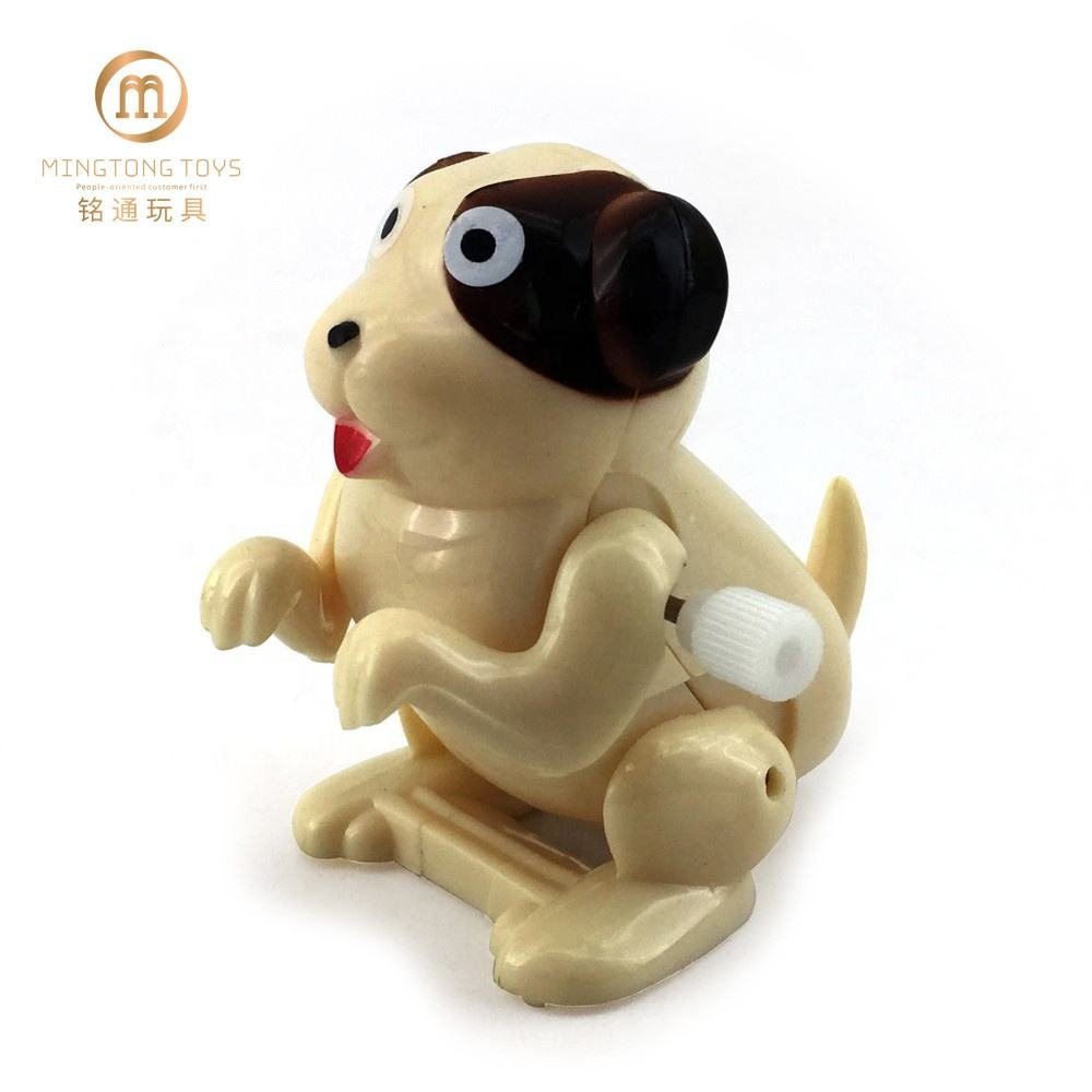 2019 Hot sale kid's funny plastic somersault jumping wind up dog toy