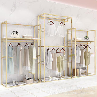boutique clothing racks display garment racks for showrooms shop retail garment rack golden Wedding dress display stand