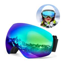 Factory Wholesale sport goggles sunglass oem snowboarding goggles ski goggles magnetic