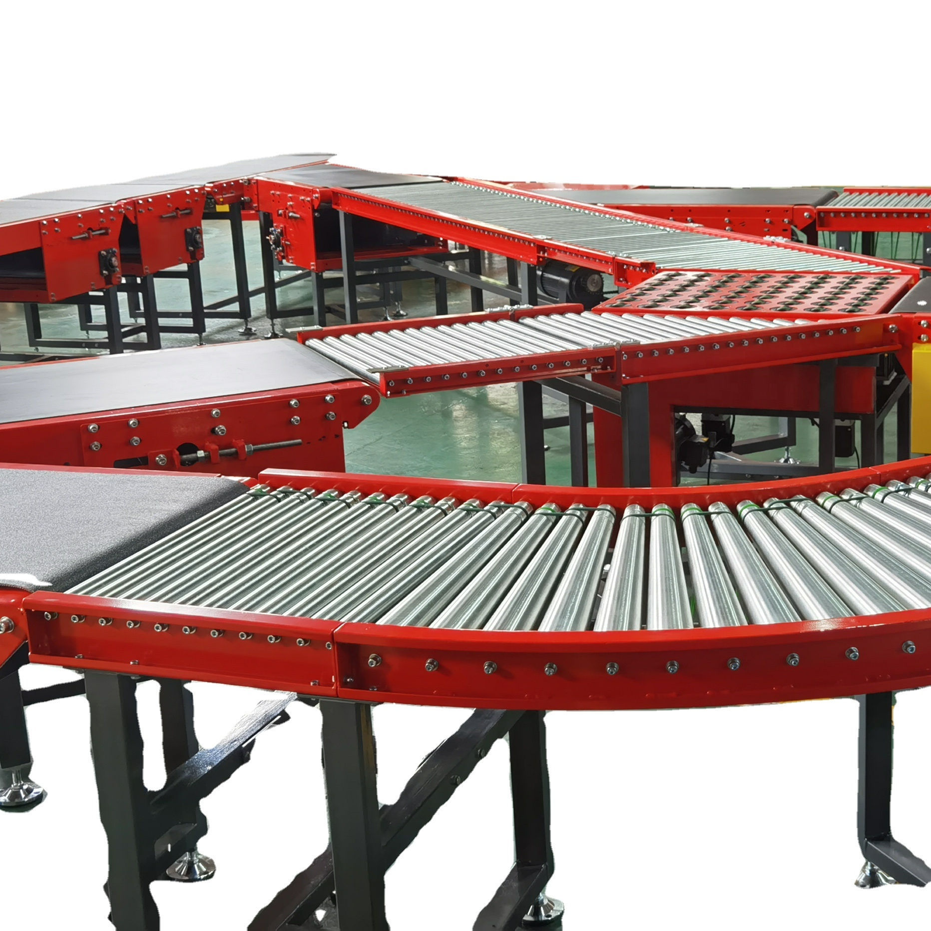 Package And Parcel Sorting Line Size Weight Barcode Sorting Machine
