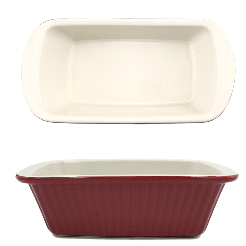 Nice red ceramic loaf pan 9 inches loaf baking dish bakeware set