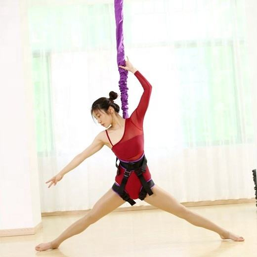 JW wholesale vitality 2D elastic band bungee outdoor indoor flying dance upside down magic rope hammock custom aerial yoga rope