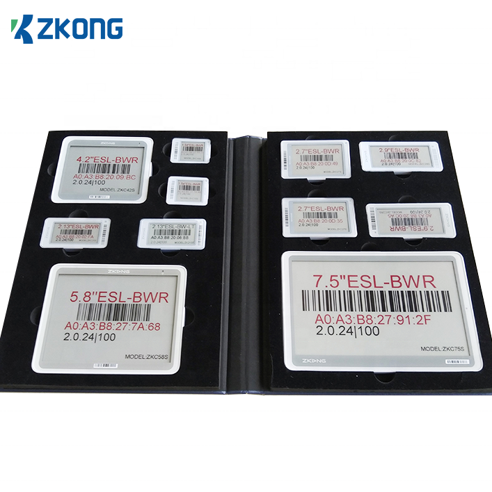 Zkong professional demo kit ESL samples digital price tag demo box electronic shelf label demo kit