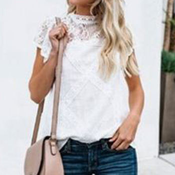 Best selling products lace women fashion blouse