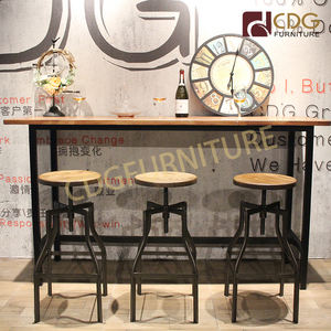 Factory Wholesale Price Restaurant Bar Counter Design Furniture High Cake Cocktail Bar Pub Club Table