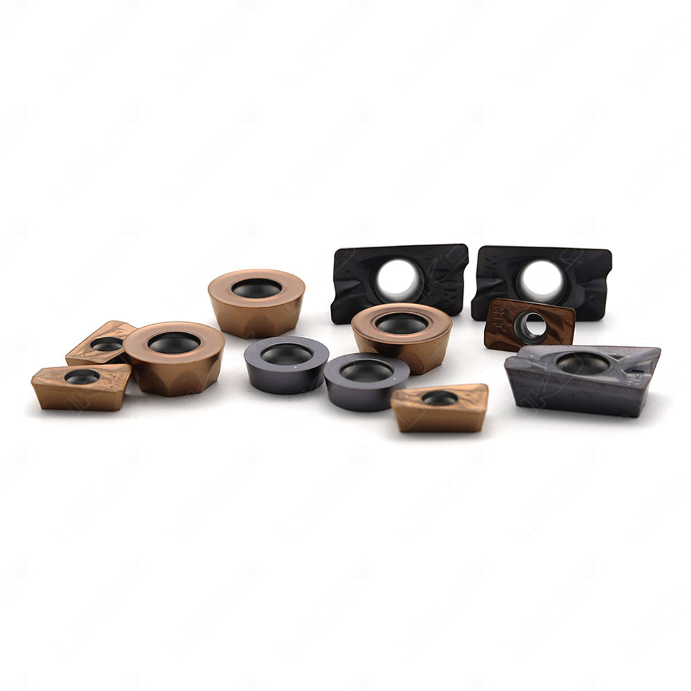 Tungsten carbide milling insert with different grade for different metal milling
