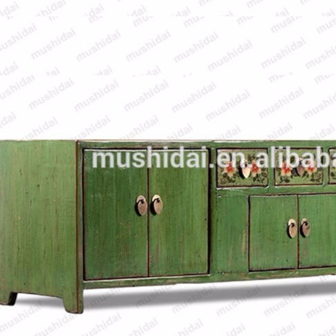 chinese antique Home Furniture high quality unique furniture classic painting solid wooden painted furniture TV cabinet