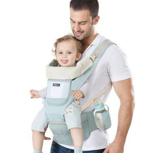 Fackory 360 Ergonomic Baby Waist Stool Kangaroo Backpack Kids Sling Wrap Comfort 6 in 1 Baby Carrier with Hip Seat
