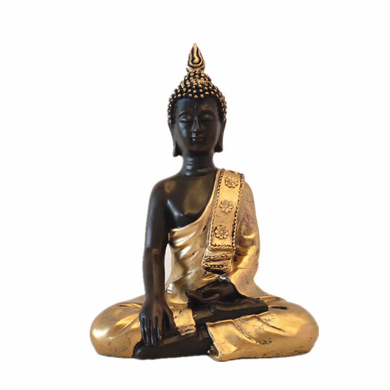 Ready to Ship 9.8'' Resin Hindu Gold Buddha Statues Buddhism Sculpture Indian Idol