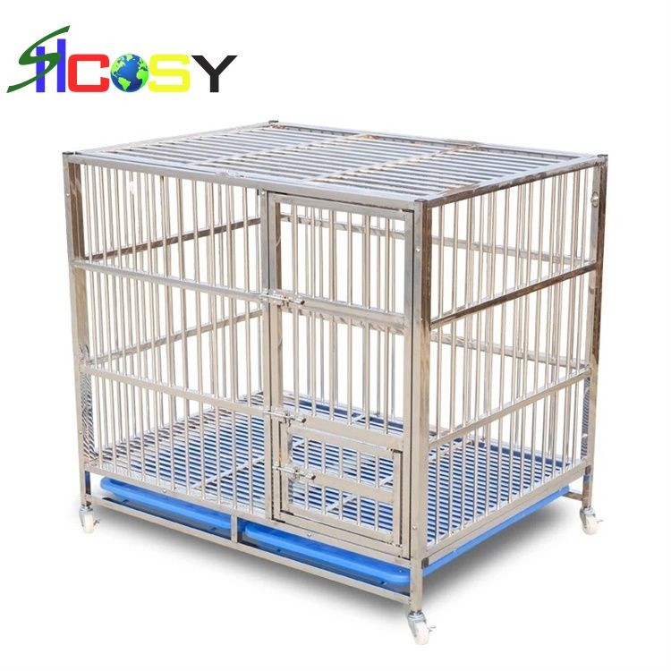 4XL 159X74X150 cm Single layer single door pet stainless steel dog crates and kennels