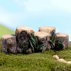 Diy Mini Boomstronk Bridge Model Hars Fairy Garden Miniaturen Poppenhuis/Terrarium/Vetplanten/Micro Landschap Decoratie