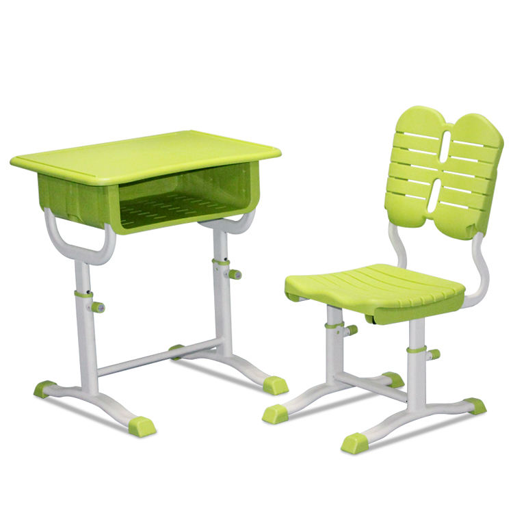 Plastic school student kids reading child study table with chair