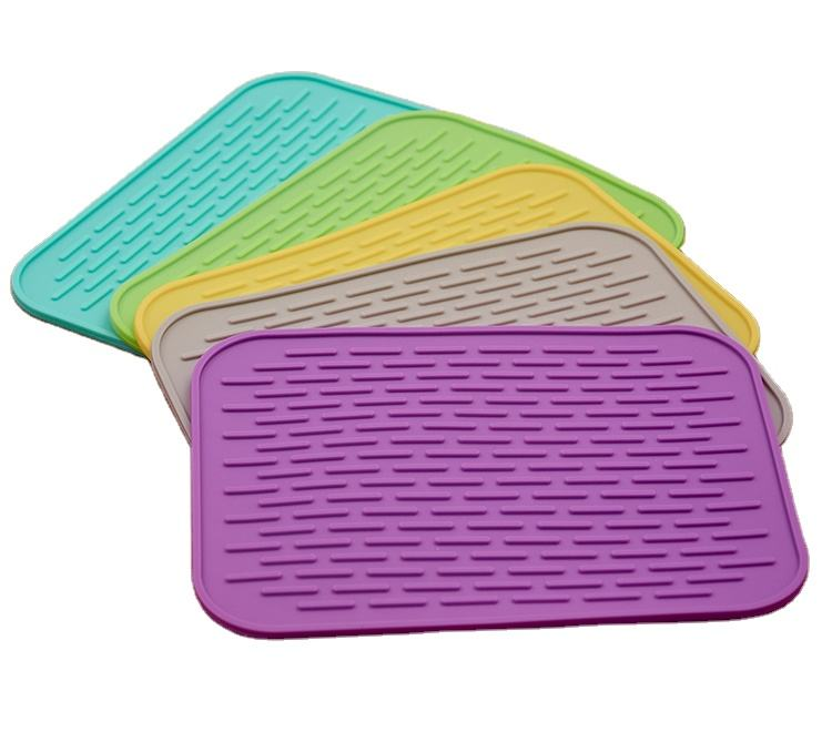 Classic [ Pad ] Best Choice Silicone Can Be Customized Heat Resistant Drying Mat Dish Pad Food Grade Silicone Mat Heat Silicone Drying Mat