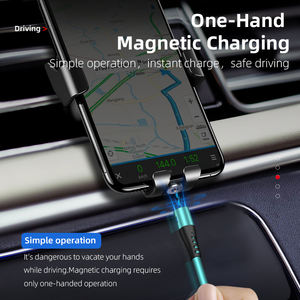 High quality magnetic usb charging cable food-grade silicone magnetic charging cable for Android IOS Type C cellphone