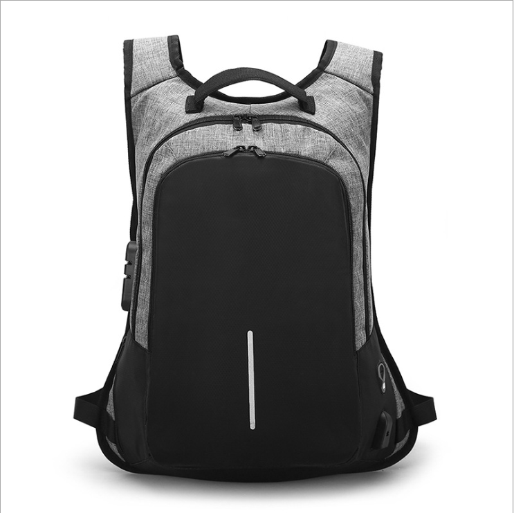 Outdoor Men's Business security backpack 15.6 inch computer bag USB password lock bag