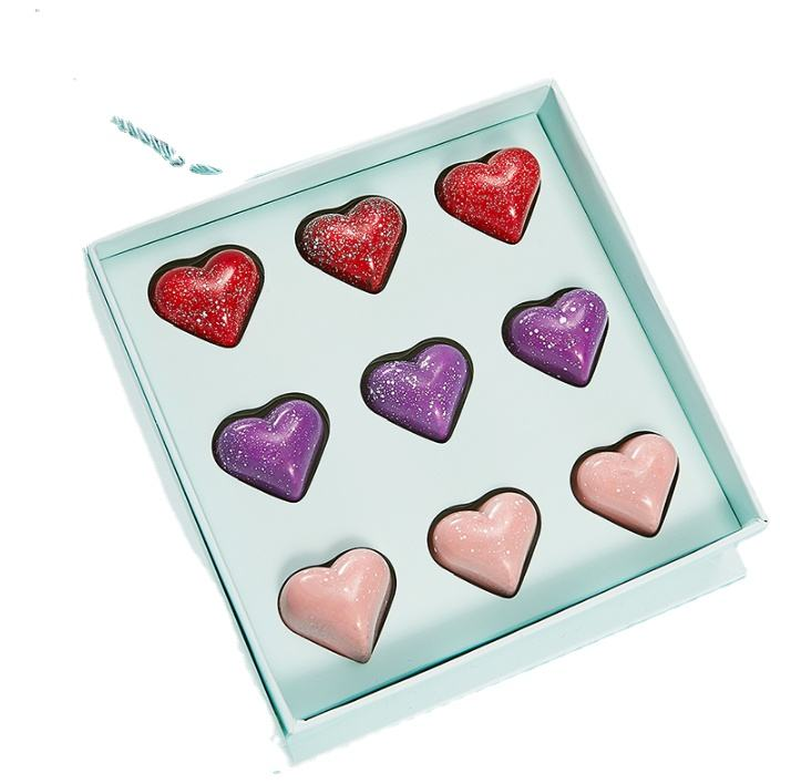 Valentine's Day Use Birthday Gifts Candy Box Printing Paper Box with Hands Bag 9 Pieces Chocolate Packing Box
