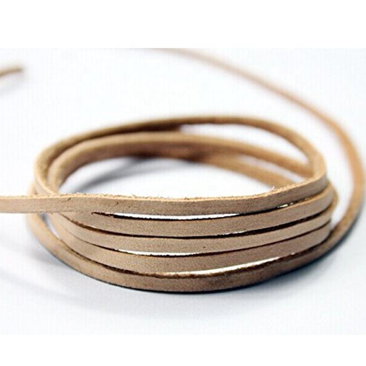 Tan Natural Dye Round Leather Cord 1mm 11 yards 10 meters