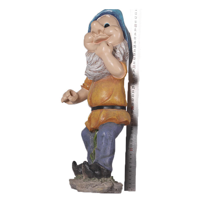 Custom Made wooden gnome unpainted,gnomes and fairies,garden gnomes resin decoration