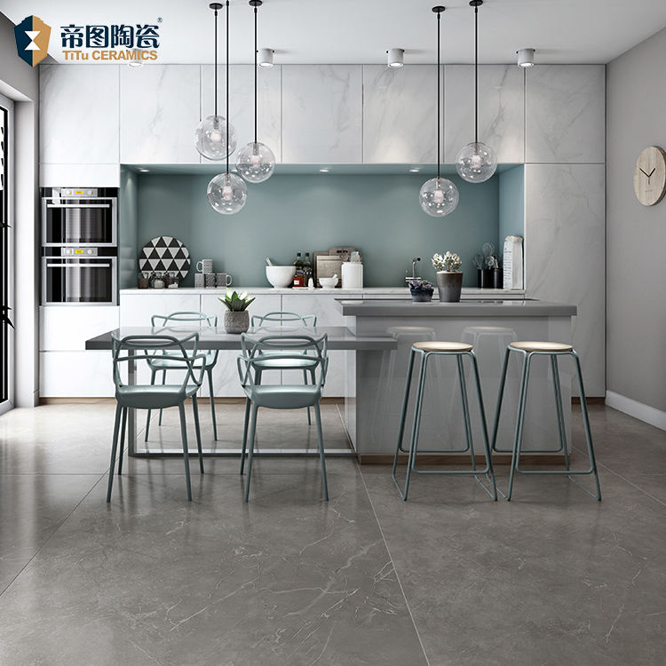 Grey Porcelain Full Body Wall And Floor Tiles Living Room 1200X2400X12.5Mm Big Size Slim Porcelain Tile