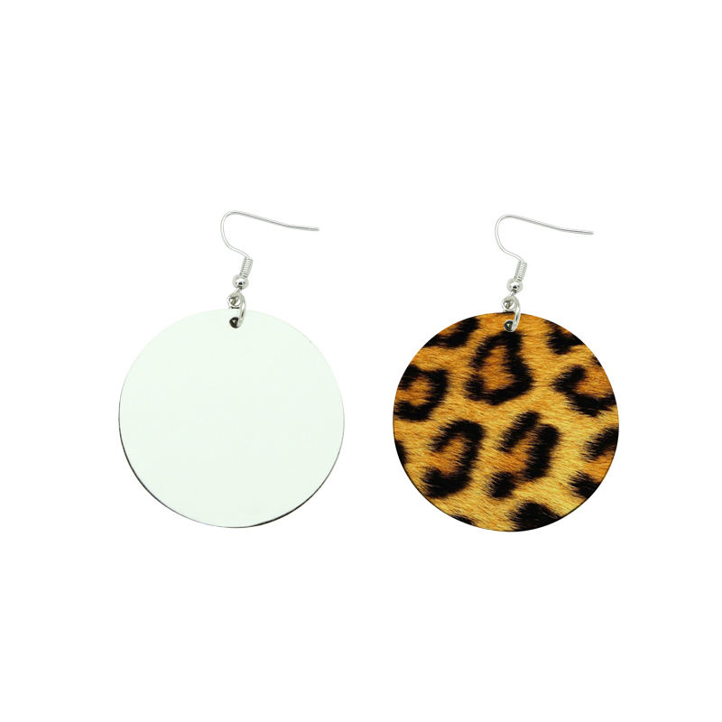 Circle image printable Sublimation blanks Earring round Sublimation Earrings