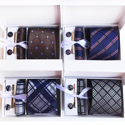 necktie Polyester Business Executive Men's Tie 6 Piece Gift Box Tie