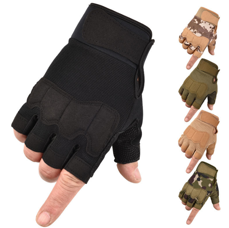 Men Women Fingerless Non Slip Motorcycle Outdoor Workout Exercise Training Sport Bicycle Gloves