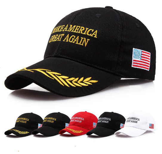 Custom Made Gold 3D Embroidery Logo 6 Panel Baseball Hat , Baseball Cap with Embroidery Flag and Curved Bill