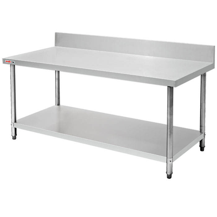 Customized Mobile Commercial Kitchen Equipment Two Tiers Stainless Steel Food Preparation Work Table/Commercial Breading Table