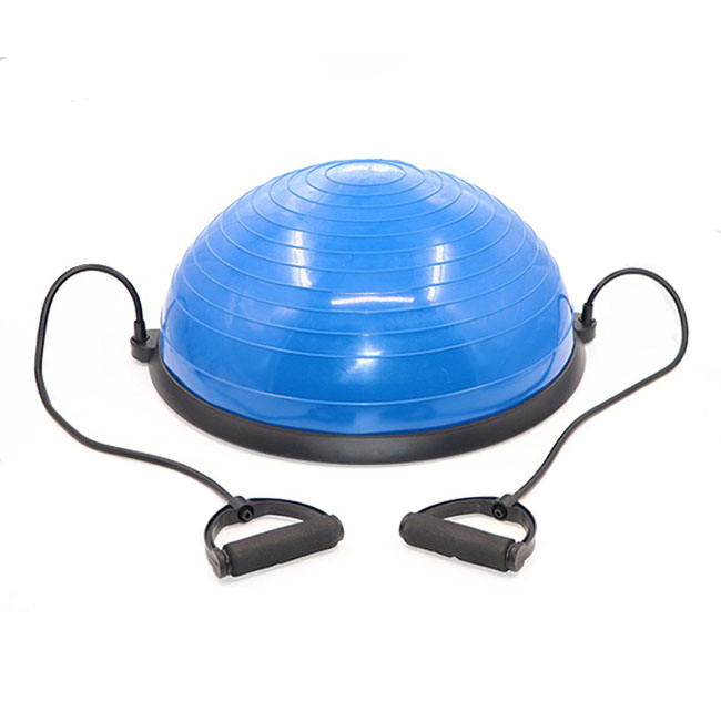 Yoga Half Bal Dome Balance Trainer Fitness Sterkte Oefening Workout yoga bal Met Pomp Blauw