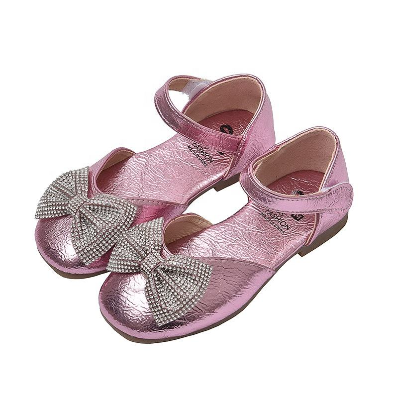 EVERTOP new sweet cow muscle sole pretty bow children dress shoes girl sandals