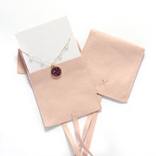 Logo printed Jewelry Display Card inside pouches