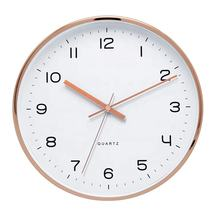 Light and Decoration 12inch Aluminum Clocks Home Decorative Metal Wall Clock