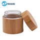 All real bamboo wooden glass jars for cosmetic 50ml