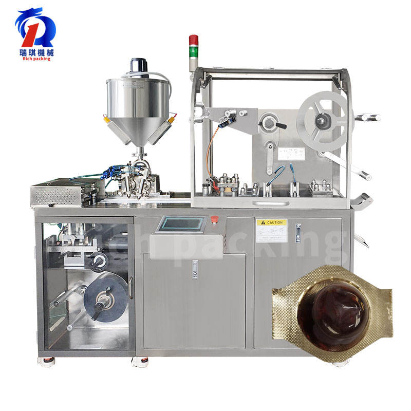 Dpp Thermoforming Automatic jam Honey Spoon Liquid Blister Packaging Machine