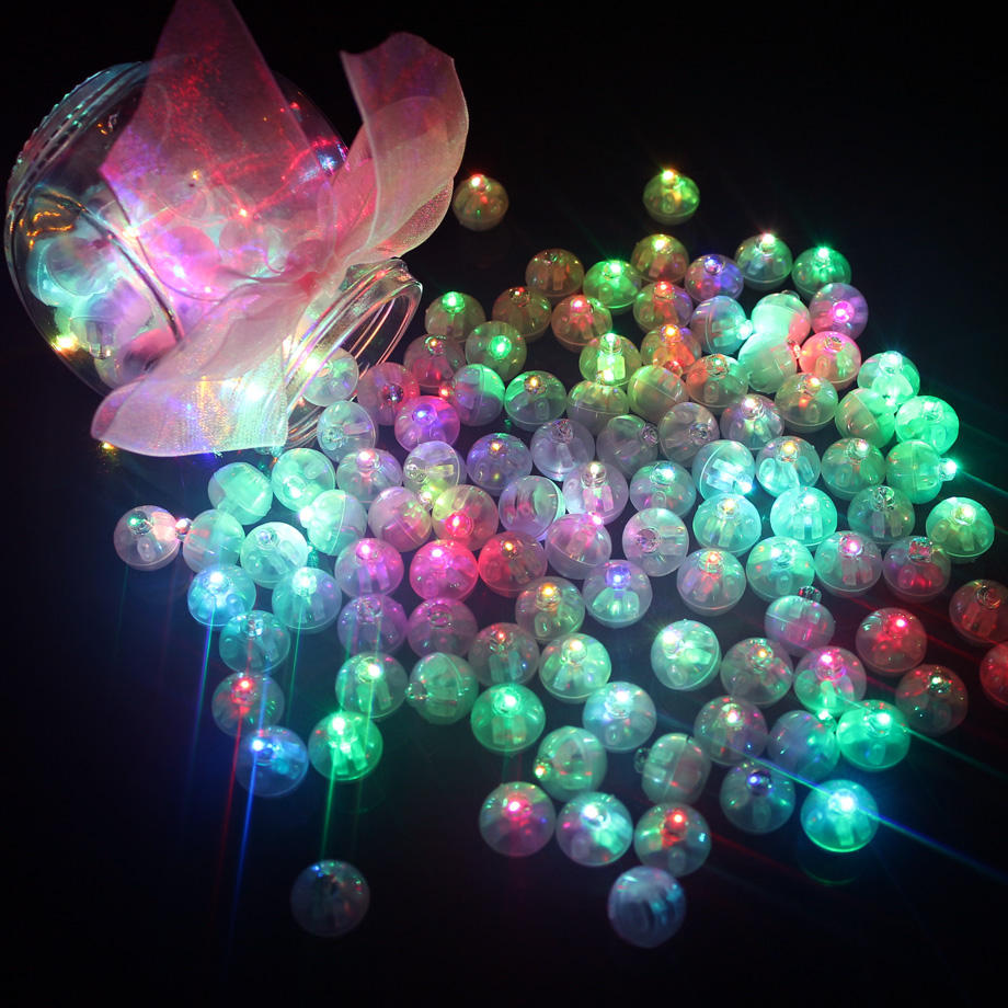 LED Mini Round Ball Balloon Light Long Standby Time Ball Lights for Paper Lantern Balloon Party Wedding Decoration