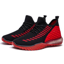 Manufacture Wholesales Hot selling women men's flying knitted upper dad shoes breathable casual jelly soled sneakers