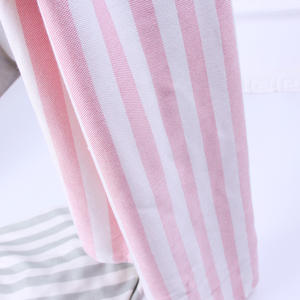 Stripe Printed Fastness Cooling Baby Bamboo Fiber Lightweight Baby Throw Blanket for Summer