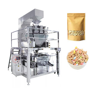 premade doypack zipper pouch candy nuts cereals seeds sugar rotary packing machine doy pack snacks automatic packing machine