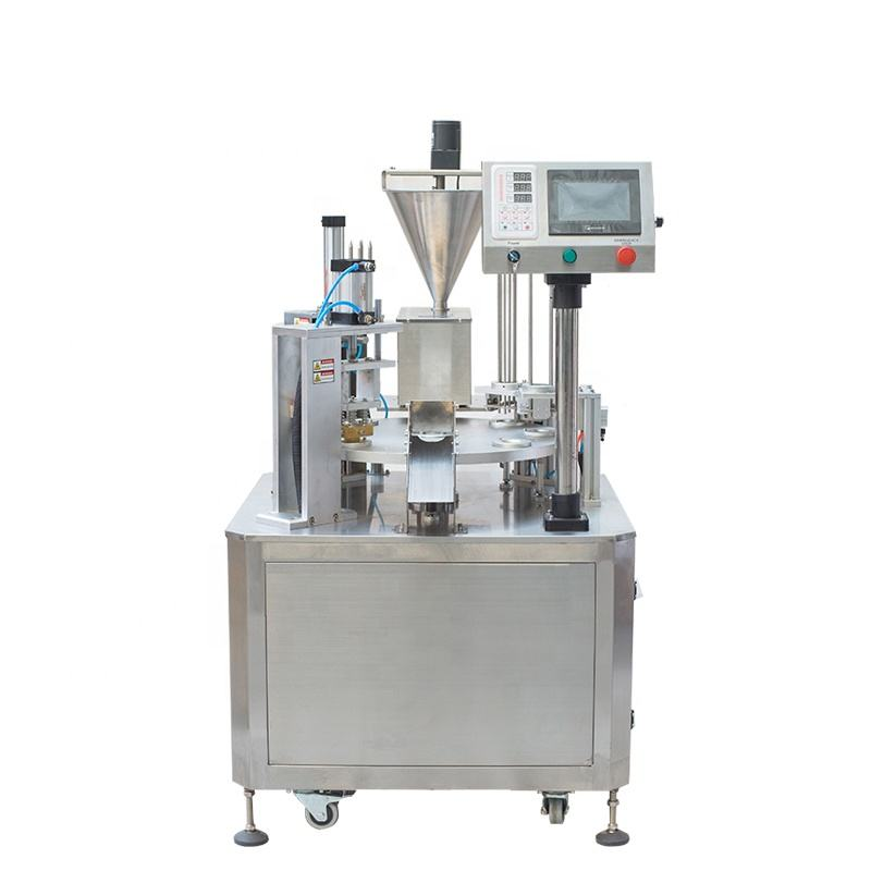 Bespacker XBG-900C High speed automatic rotary type nespresso coffee capsule filling sealing machine