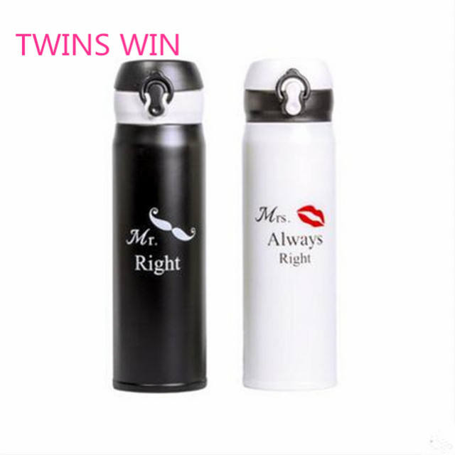 Spain best-selling Various color 460ml cartoon water bottle vacuum stainless steel insulated drinking bottles for sports 1322