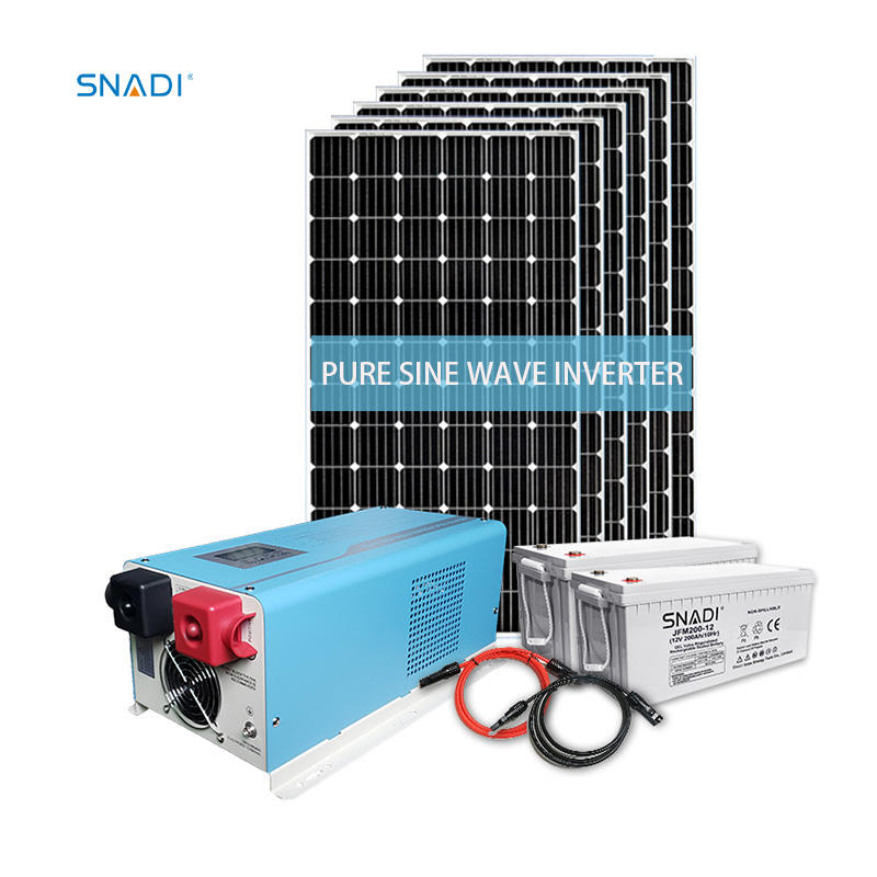 Home Price LCD Solar Power Energy Battery Inverters System DC to AC Pure Sine Wave Off Grid Hybrid Inverter Solar