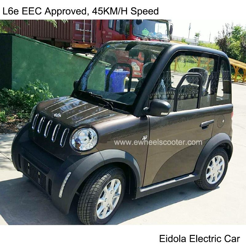 L6e electric car moped 4 wheel 45KM/H speed no need driving license