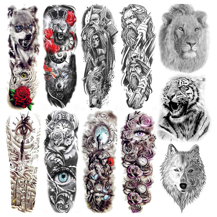 Wholesale Custom Temporary Tattoo Sticker Buy 3d Semi Permanent Body Tatoo Sticker Fake Printer Tatuaje Temporal Paper For Men