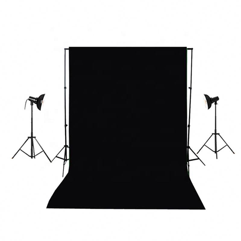 Factory Price Solid Color Studio Backdrop 3x3m White Muslin Backdrop 1x1.5m Flocked Fabric Background For Studio Equipment