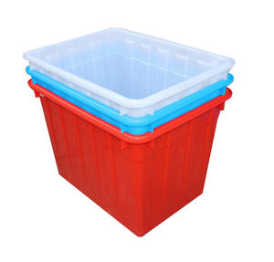 3 x 25 Ltr Square Stacking Catering Plastic Storage Boxes Containers Crates BLUE