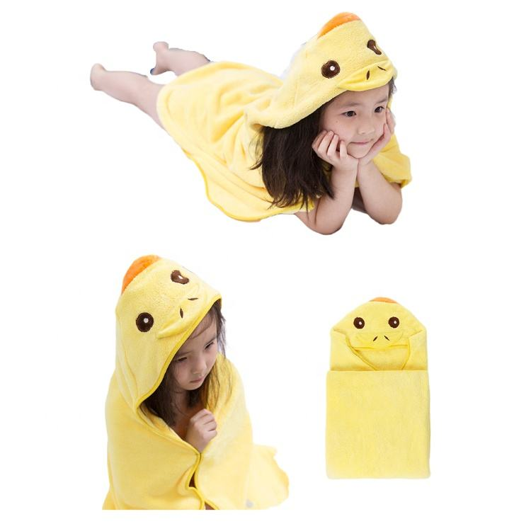 Wholesale Cute Cartoon Cotton Children Hold Baby Cloak Cotton Custom Towel Bath Towel