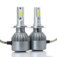 Dual color LED car headlights C6 color LED lights H1 H4 H7 LED headlamps 4500k led headlight h4