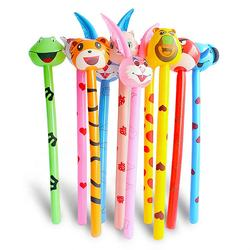 Wholesale Children Outdoor PVC Inflatable Long Stick Cartoon Animal Cheer Stick