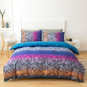 Top-grade hight quality colorful printed microfiber comforter set